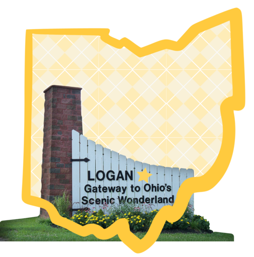 Sign reading LOGAN Gateway to Ohio's Scenic Wonderland
